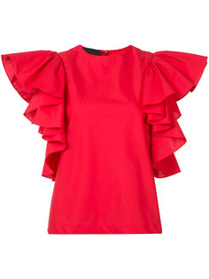 ruffled sleeve blouse Co
