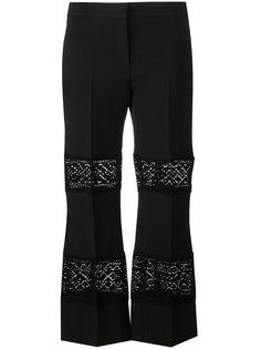брюки с полупрозрачными вставками Alexander McQueen