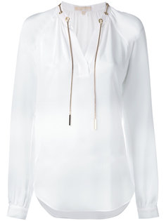 блузка с завязками на шее Michael Kors
