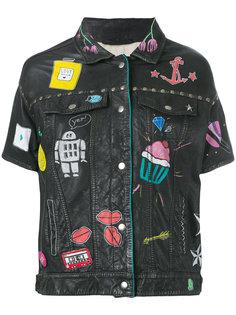 кожаная куртка с рисунками P.A.R.O.S.H.