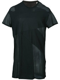 sheer panel T-shirt  Julius