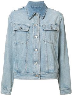 джинсовая куртка с бахромой Mm6 Maison Margiela