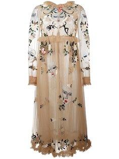 платье Angelica Selvatica с вышивкой Vivetta