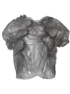 sheer gathered blouse  Comme Des Garçons Tricot