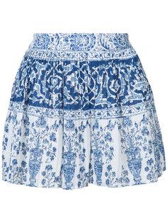 micro pleated porcelain shorts Sea