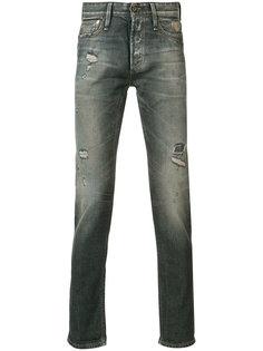 джинсы с потертой отделкой Denham