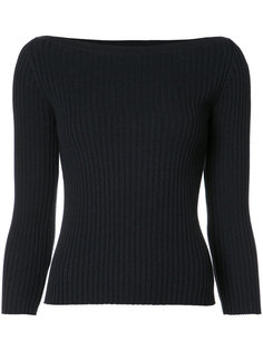 ribbed boat-neck jumper Theory