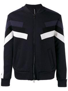 куртка-бомбер с контрастными панелями Neil Barrett