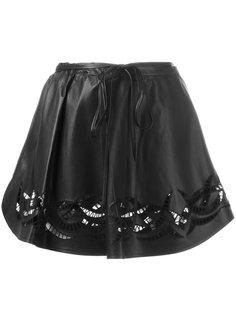 мини-юбка с вышивкой Alexander Wang