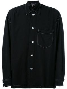contrast stitch trim shirt Issey Miyake Vintage
