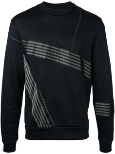 striped trim sweatshirt  Wooyoungmi