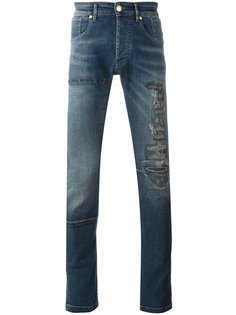distressed finish jeans Pierre Balmain