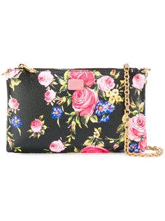 клатч с цветочным рисунком на цепочке Dolce & Gabbana