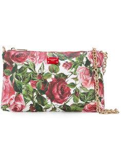 клатч с рисунком из роз и цепочкой Dolce & Gabbana