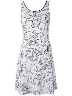 платье с графическим принтом Kenzo