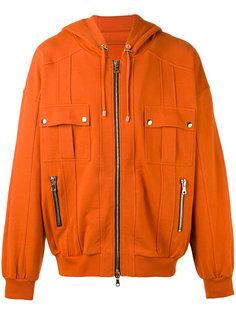 zip-up hoodie Balmain