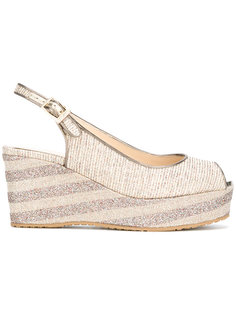 glitter wedge sandals Jimmy Choo