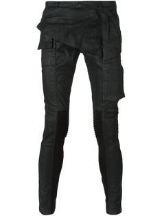 вощеные джинсы кроя скинни Rick Owens DRKSHDW