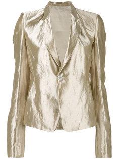 пиджак с отделкой металлик Rick Owens