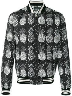 куртка бомбер с принтом ананасов Dolce & Gabbana
