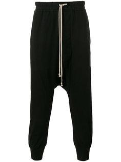 спортивные брюки с заниженной шаговой линией Rick Owens DRKSHDW