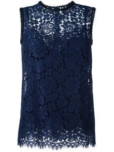 кружевная блузка без рукавов  Dolce & Gabbana