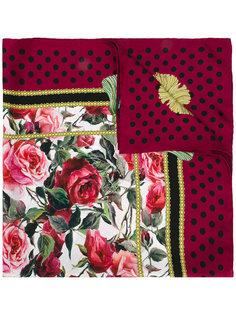 шарф с рисунком Rose Dolce & Gabbana