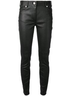 кожаные брюки скинни Givenchy
