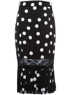 юбка-карандаш в горох с плиссировкой Dolce & Gabbana
