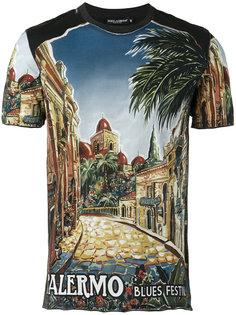 футболка с рисунком Palermo Dolce & Gabbana