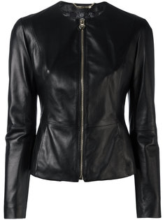 приталенная кожаная куртка  Philipp Plein