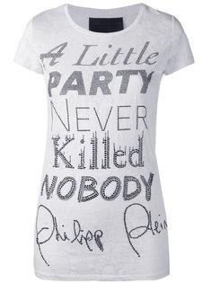 футболка с принтом слогана Philipp Plein