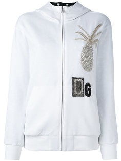 crystal pineapple patch hoodie Dolce & Gabbana