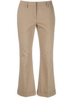 укороченные расклешенные брюки  Brunello Cucinelli