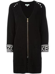 кардиган-пальто с V-образным вырезом Kenzo