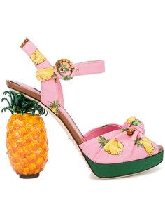 босоножки на платформе с ананасами Dolce & Gabbana