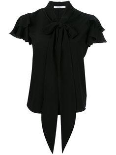 блузка с бантом и оборками Givenchy