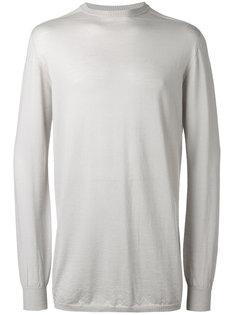 свитер с отделкой в рубчик Rick Owens