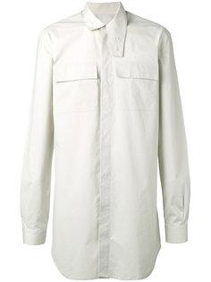 рубашка с высоким воротником Rick Owens