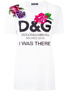 футболка с цветочным украшением Dolce & Gabbana