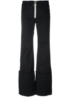 брюки с широкими отворотами Off-White