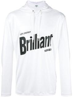 slogan hooded sweatshirt Kenzo