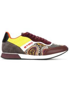 кроссовки с контрастной шнуровкой Etro