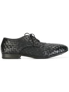 тканые туфли на шнуровке Marsèll