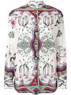 блузка с принтом птиц  Etro