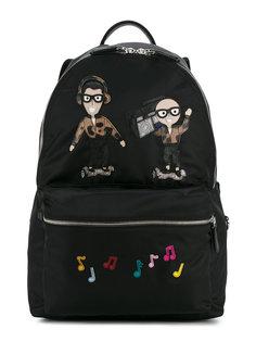 рюкзак с нашивками дизайнеров Dolce & Gabbana