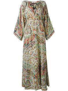 """длинное платье с принтом """"пейсли"""" Etro"""