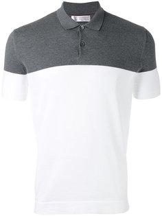 рубашка-поло в стиле колор-блок Brunello Cucinelli