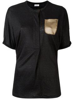 футболка с шелковым карманом Brunello Cucinelli