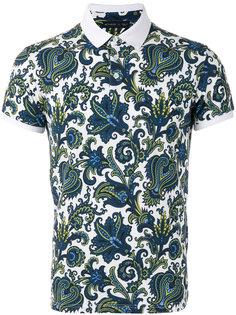 футболка-поло с растительным принтом  Etro
